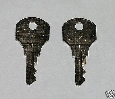 "2 - Type ""A"" Keys fit older Simplex Time Clocks, Mechanical Time Stamps"