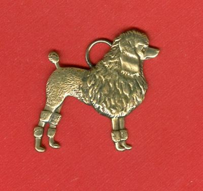 UNUSUAL NEW Poodle Pendant in Antique Style Hand Crafted Dog