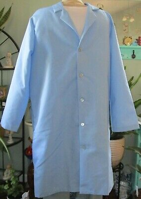 "Best Medical Men L/S Lab Coat 42"" Light Blue Size L to 2X"