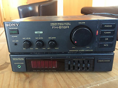 SONY FH-818R Compact High Density AMPLIFIER EQUALIZER Component System  SA 818