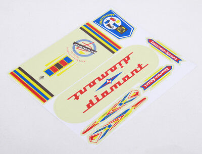 DIAMANT Decals Sticker Dekor 7-teilig Set 60er/70er Jahre DDR