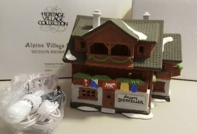 Dept 56 Alpine Village 1986 BESSON BIERKELLER #65404 Retired 1996