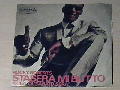 """7"""" ROCKY ROBERTS AND THE AIREDALES * Just Because Of You / Stasera Mi Butto"""