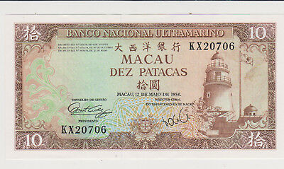 Macau 1984 10 Patacas P-59 perfect GEM UNC