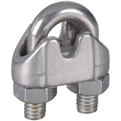 3/16 Inch Stainless Steel Wire Cable Clamps Pack Of 2