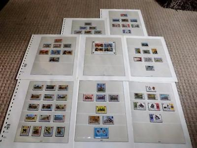 Isle Of Man-1973 To 1975-Complete Commem Sets+Sht+Defins To £1-Mounted Mint