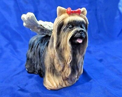 """YORKSHIRE TERRIER ANGEL Figurine """"In Memory Of Your Little Angel"""""""