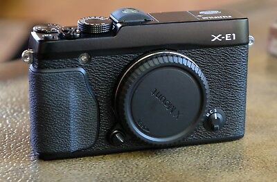 Fujifilm X-E1 16.3MP Mirrorless Camera - MINT+ Condition! Black (Body Only)