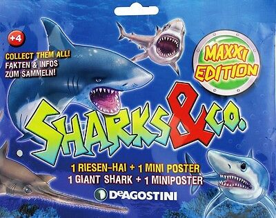NEU DeAgostini Sharks & Co.Maxxi Edition - 6 Booster / Blindpackung