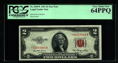 $2 1953 Red Seal Legal Tender *STAR* Note PCGS Very Choice New 64 PPQ