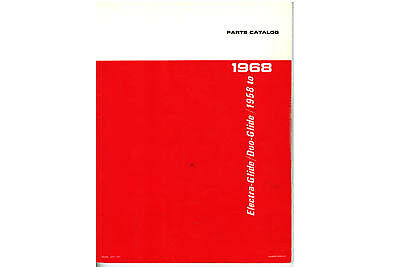 Spare Parts Book for 1958-1968 Big Twin For Harley-Davidson