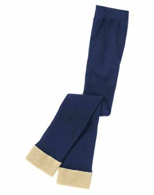 NWT Gymboree Girls Flight of Fancy Navy and Gold Footless Tights XS(4) & S(5-6)