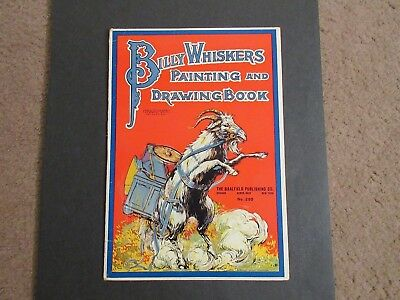 1919 Vtg BILLY WHISKERS PAINT/DRAWING CHILDRENS BOOK -BLACK AMERICANA INTEREST