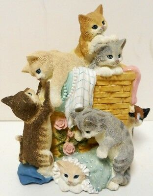 "7 ADORABLE CATS MUSIC BOX ~ Plays ""My Favorite Things""~ San Francisco Music Box"