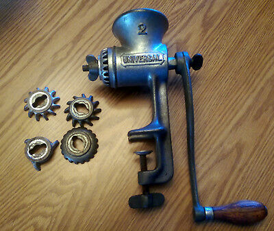 Universal 2 Hand Crank Food/Meat Grinder 5 Cutters