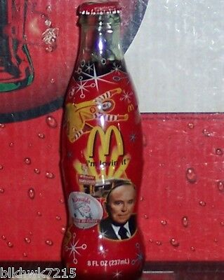 McDONALD'S 50TH ANNIVERSARY 2005 8 OUNCE WRAPPED GLASS COCA - COLA BOTTLE
