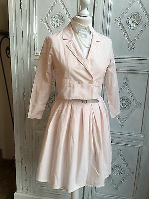Vintage Tammy Girl 3 piece Suit/Peach Candy Stripe -1980s Height 158 cm