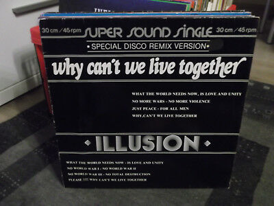 Illusion: Why Can't We Live Together-Super Sound Single Special Disco Remix V.