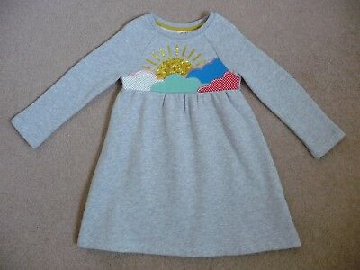 Mini Boden New Winter Fleece Lined Cosy Dress 3-4 Years Sequin Sun Baby Girls