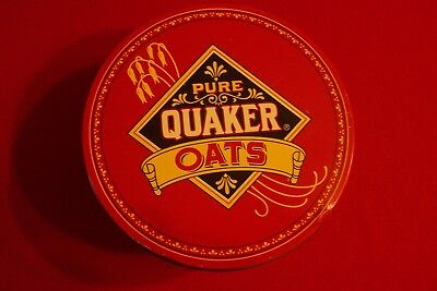 Vintage 1983 Pure Quaker Oats Limited Edition Advertising Round Cookie Tin