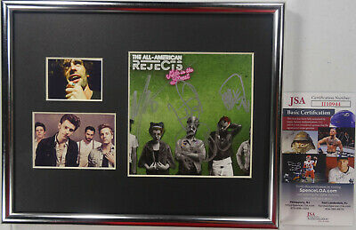 Signed The All American Rejects Autographed Cd Framed Display By All