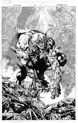Perkins CARNAGE 14 pg 1 KILLER MAN-WOLF SPLASH - ONE OF THE BEST PAGES EVER