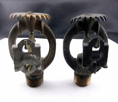 Vintage Pair of AUTOMATIC Youngstown, OH Brass Fire Sprinkler Heads Steampunk