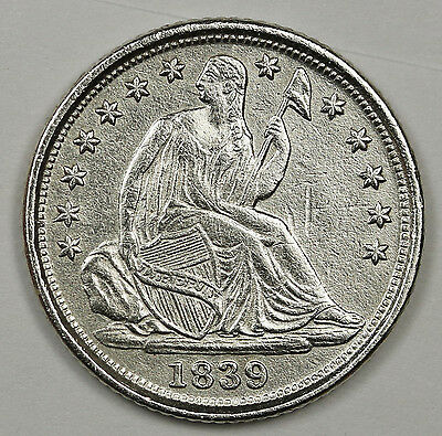 1839-o Liberty Seated Half Dime.  A.U. Detail.  95974