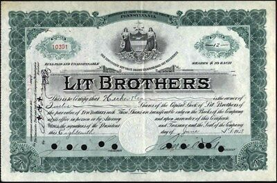 Lit Brothers, Signed By Lit, 1928
