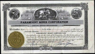 Paramount Mines Corporation, Kellogg, Idaho, 1938