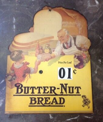 Butter-Nut Bread Store Sign Die-Cut Sign