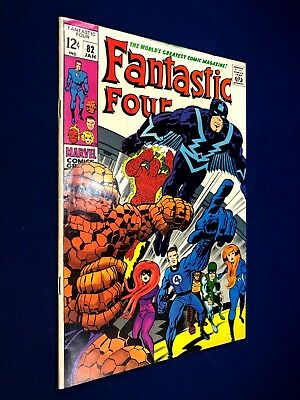 Fantastic Four #82 (1969 Marvel) The Inhumans appearance Silver Age NO RESERVE