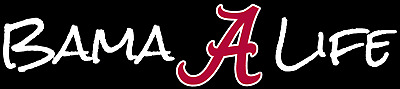 Alabama Crimson Tide Bama Life With Flying A Decal