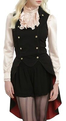 Alice Through The Looking Glass Mad Hatter Military Vest Hot Topic Exclusive Sm