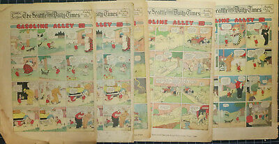 Four COMPLETE  8-page COMIC SECTIONS 1924, Gumps, Gasoline Alley, TEENIE WEENIES