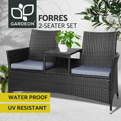 Garden Bench Outdoor Backyard Patio Chair Seat Lounge Rattan Wicker Furniture