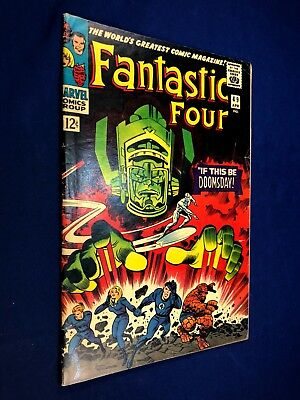 Fantastic Four #49 (1966 Marvel) Silver Surfer & Galactus appearance NO RESERVE