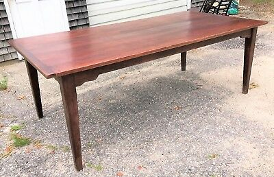 "Large Antique Vintage Farmhouse Dining Table 43"" x 84"""