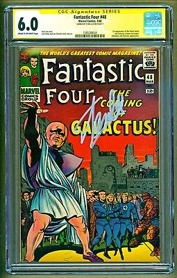 Fantastic Four #48 1st app Galactus & The Silver SurferSigned Stan Lee CGC 6.0