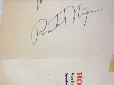 SIGNED (Vice) President Richard NIXON 1954 Lincoln Day Dinner PROGRAM