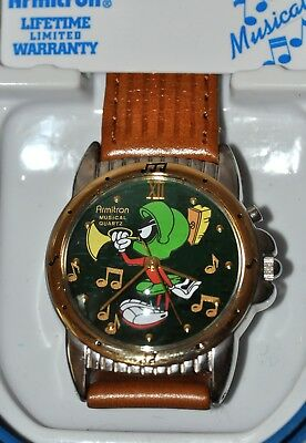 New Looney Tunes Marvin the Martian Musical Quartz watch Armitron Never Used