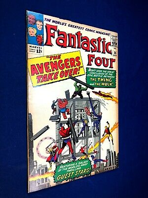 Fantastic Four #26 (1964 Marvel) The Avengers appearance Silver Age NO RESERVE
