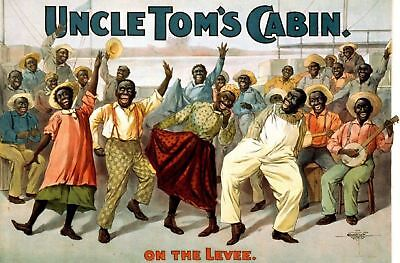 1899 Minstrel Show Act Ad Poster Uncle Toms Cabin Blackface Americana Print 568