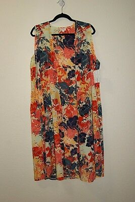 New NWT LuLaRoe Joy Fall Floral Duster Vest Size Large