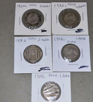 British India - Lot of 5 Coins