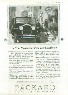 A New Measure of Fine Car Excellence Packard ad 1926