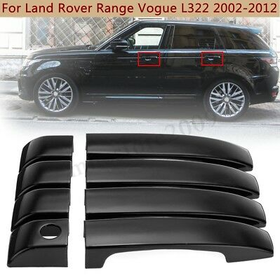 Gloss Black ABS Door Handle Covers Trim For Land Rover Range Vogue L322 02-12