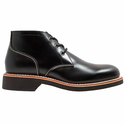G.H. Bass & Co. Duxbury Chukka Black Mens Leather Lace-up Ankle Boots
