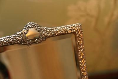Victorian Solid silver mirror dressing table birmingham 1899 by Horton & Allday
