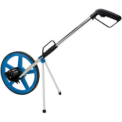Draper Tools Expert Distance Road Land Adjustable Measuring Wheel Blue 44238
